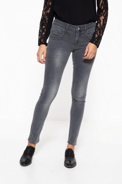 5-Pocket Jeans mit Strukturstickerei am Tascheneingriff »Venus«