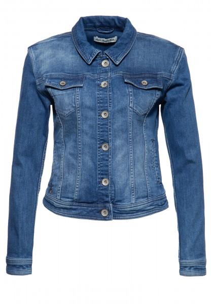 ATT JEANS Damen Jeansjacke im klassischen Design mit Waschungen »Alicia«