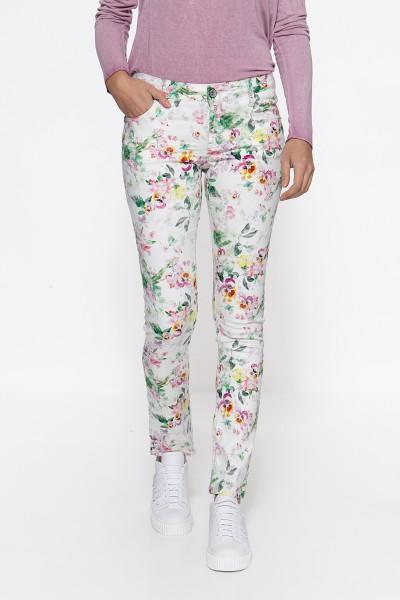 ATT JEANS Slim Fit Jeans »Belinda« mit Flowerprint Belinda