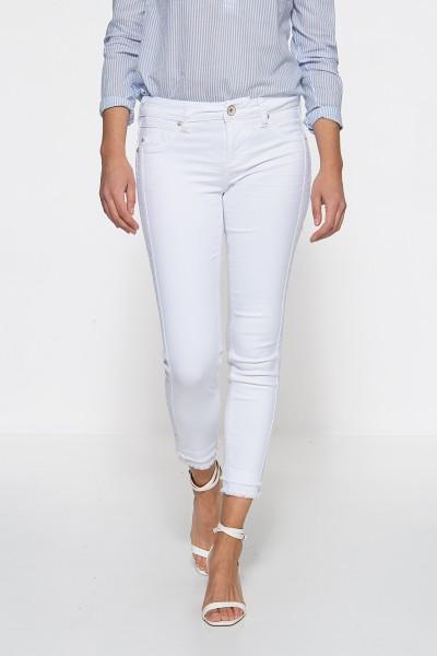 ATT JEANS Slim Fit Jeans mit offenen Saumkanten Belinda