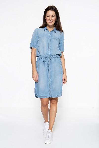 ATT JEANS Hemdblusenkleid mit Sandwash-Effekt Lacey