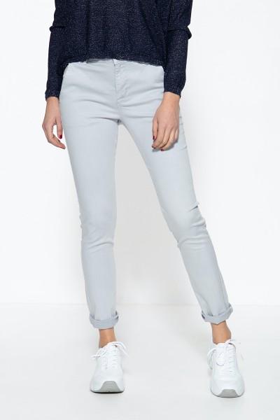 ATT JEANS Damen Slim Fit Hose im eleganten Chino-Look Emilia
