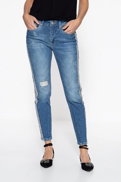 ATT JEANS High Waist Jeans mit Einsätzen an den Seitennähten Mara