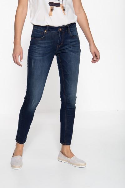 ATT JEANS Slim Fit Jeans mit dezenten Waschungen und Destroyed-Effekten Leoni