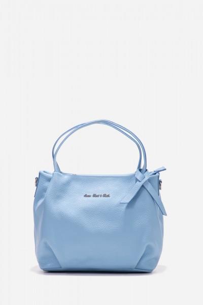 Leder-Handtasche mit separatem Schulterriemen