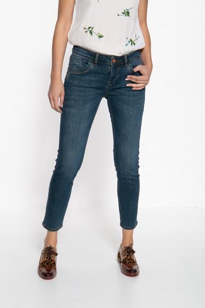 ATT JEANS Slim Fit Jeans mit Used-Waschungen und markanten Absteppungen Leoni