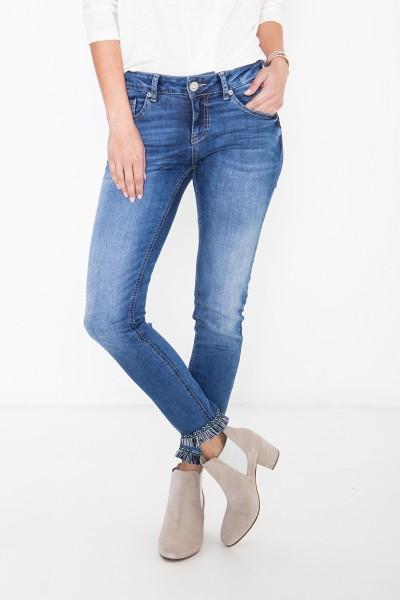 ATT JEANS 7/8 Jeans mit Fransenborte am Saum Leoni