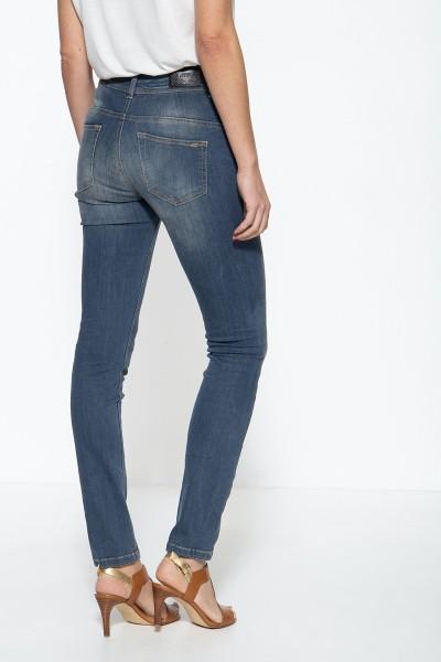 ATT JEANS Damen 5-Pocket Jeans mit hohem Bund