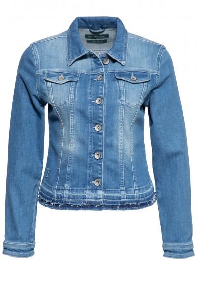 Jeansjacke mit Waschungen und offenen Saumkanten »Alicia«