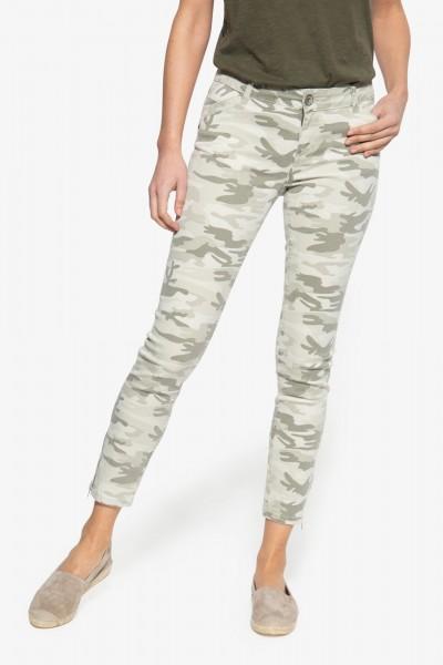 Slim Fit Hose mit legerem Camouflage-Muster »Carron«