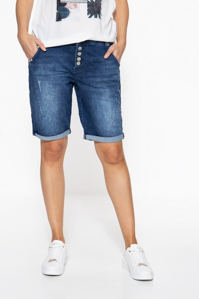 ATT JEANS Boy Fit Short mit Zierstickerei Gwen