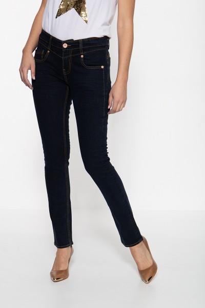 ATT JEANS Slim Fit Jeans mit Passenabtrennung in der Front und kontrastierenden Absteppungen Zoe