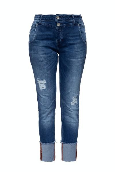 Boy Fit Jeans im Used Look »Kira«