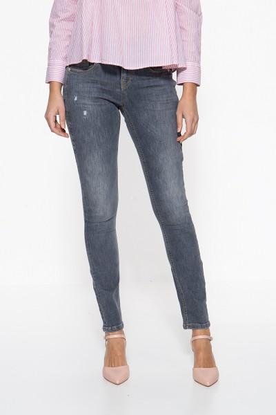 ATT JEANS Basic Slim Fit Jeans »Zoe« mit kontrastierenden Absteppungen Zoe