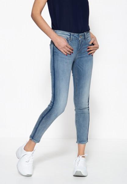 ATT JEANS Damen 5-Pocket Jeans mit seitlichem Paspelstreifen »Leoni«