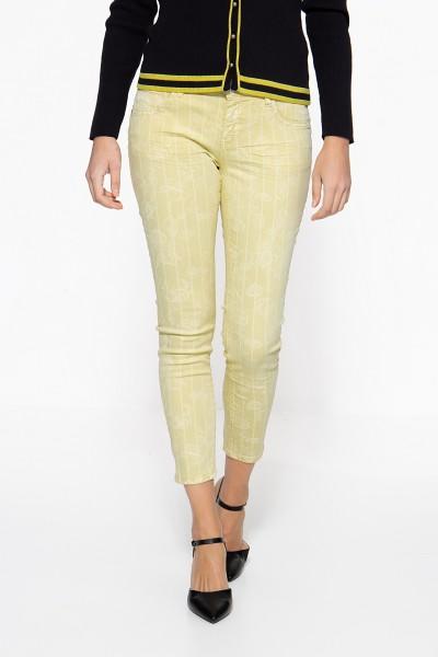 ATT JEANS Slim Fit Jeans »Leoni« mit dezentem Blumen-Streifen-Muster Leoni